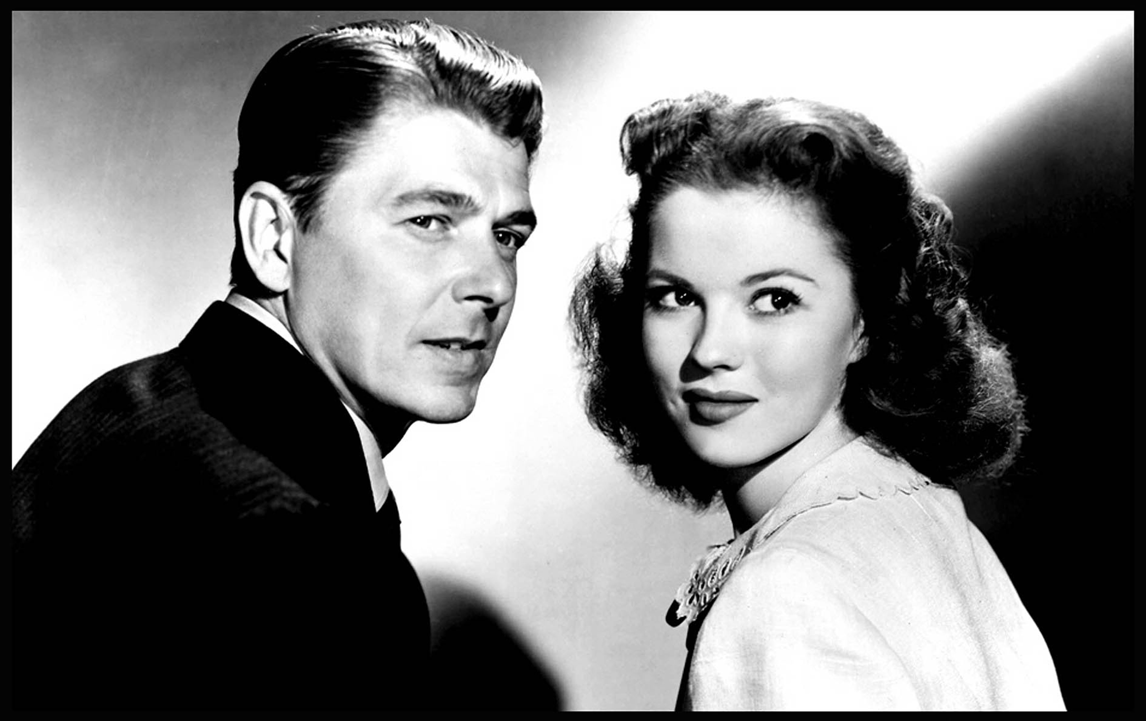 Shirley Temple and Ronald Reagan