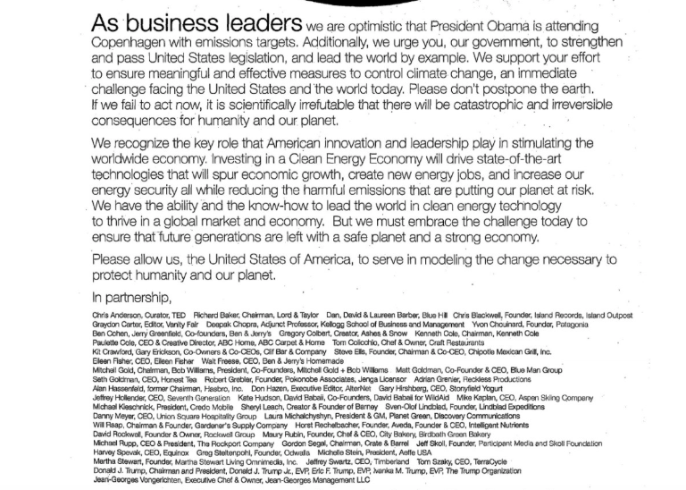 climate letter