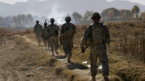 Army soldiers on patrol in Kandahar province, 2010.