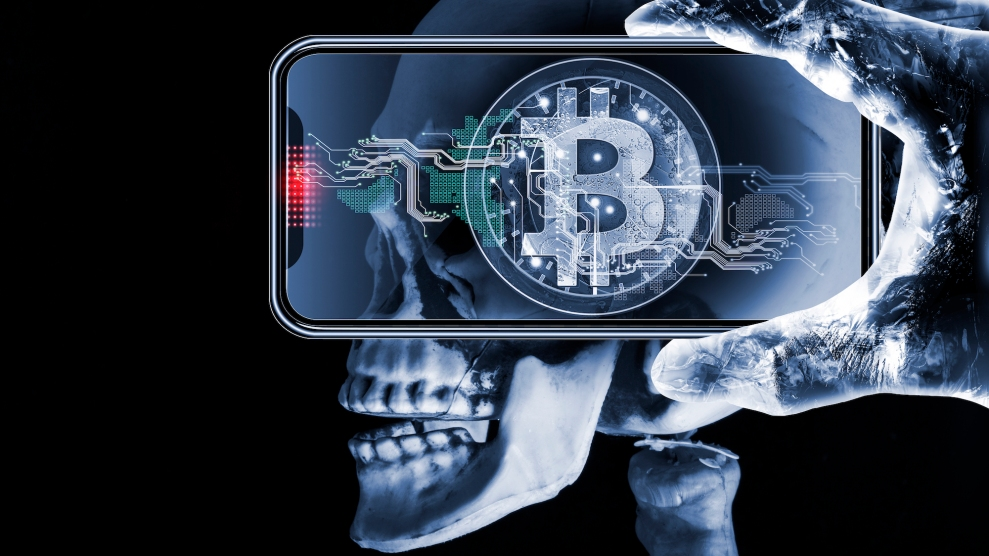 Mobile handset with artificial intelligence and bitcoin