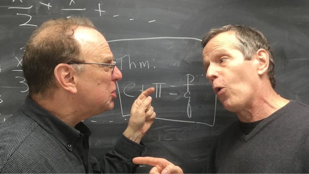 Tom Garrity (left) and Colin Adams