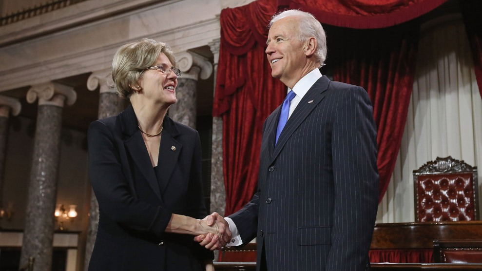 Bide and Warren at her swearing-in
