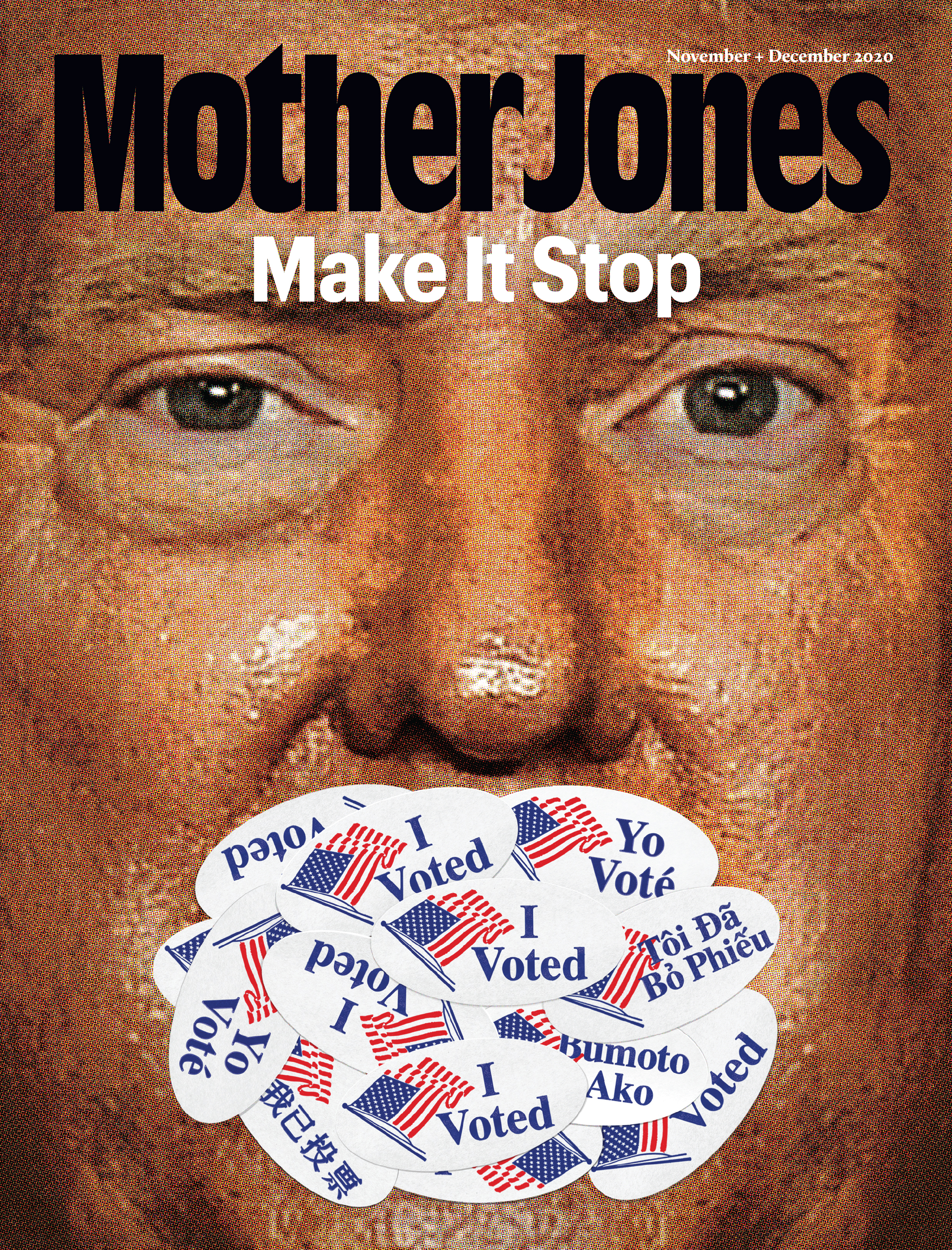Mother Jones Magazine Cover : November + December 2020