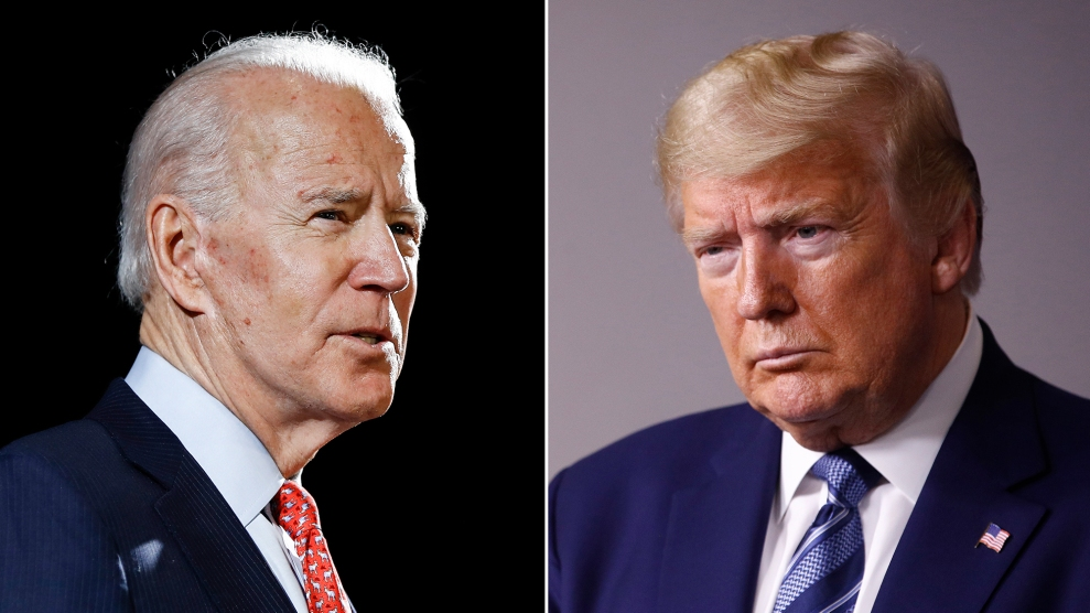 Biden and Trump headshots