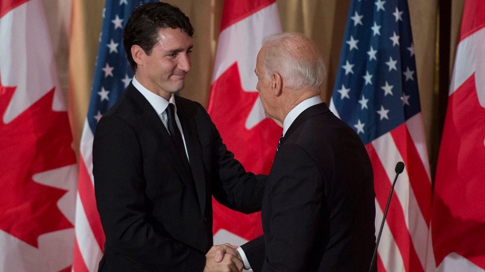Justin Trudeau and Joe Biden