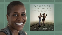 Natalie Baszile with the cover of her new anthology We Are Each Other's Harest