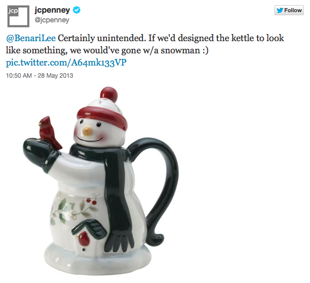 Hitler tea kettle jcpenney tweet