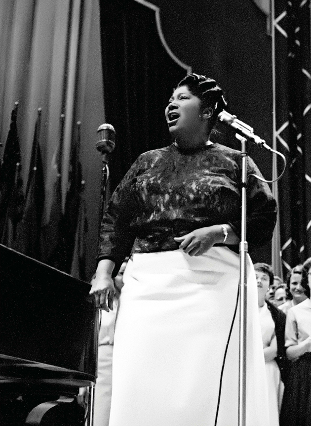 Mahalia Jackson preaches to the choir at a Rotary International Convention, New York City, June 1959