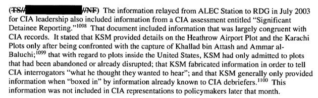 cia misled congress on torture