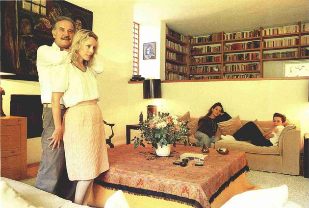 A scene of the Fuentes family in their home in 1988.