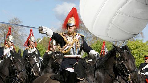Side out, leftenant. Guards: haltershorsetack.com; ball: gfymca.org