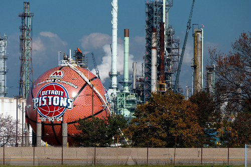 """Marathon Petroleum Co. says it has been, and will continue to be, a good neighbor, but some who live near the refinery are skeptical. """"They've disrespected us in this neighborhood over and over and over again,"""" says one resident. Kirk Allen"""