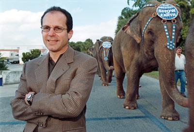 CEO Kenneth Feld at the circus' winter quarters.: Jim Stem/St. Petersburg Times/Zuma Press