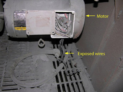 metal dust and motor OSHA