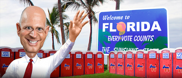 Rick Scott is making it harder to vote Flickr/Donkey Hotery