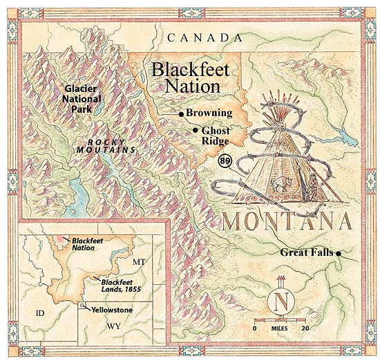 Blackfeet Nation map
