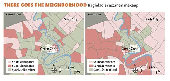 There Goes the Neighborhood: Baghdad's sectarian makeup.