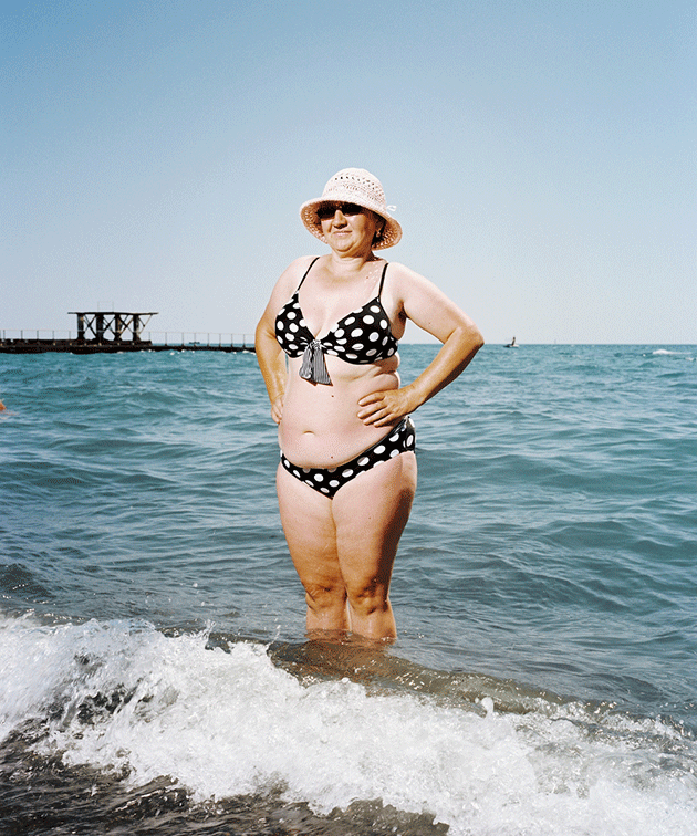 Tatyana Mikhailovna Trubina, 49, on holiday. Sochi, 2011.